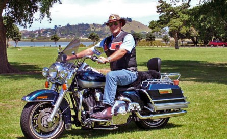 Stuart and his Harley